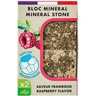 Zolux Minerálny kameň EDEN malina 2× 100 g - Doplnok stravy pre hlodavce