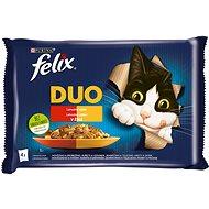 Felix Fantastic DUO kurča a ľadvinky, hovädzie a hydinové, morka a pečeň, jahňacie a teľacie 4× 85 g