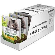 Perfect Fit granuly pre mačky Vital & Nature Adult kuracie a morčacie 6× 650 g - Granuly pre mačky