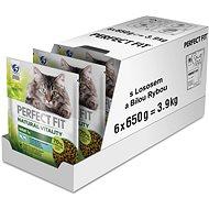 Perfect Fit granuly pre mačky Vital & Nature Adult s lososom 6× 650 g - Granuly pre mačky