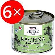Falco Sense Cat kačka a hovädzie 200 g 6 ks