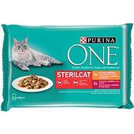 Purina ONE Sterilcat minifiletky s kuracím mäsom a zelenými fazuľkmi, s hovädzím mäsom a mrkvou v šť - Kapsička pre mačky