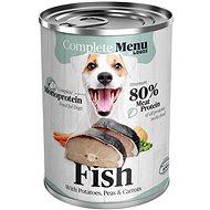 COMPLETE MENU pre psov Monoprotein - rybie so zeleninou 400 g - Konzerva pre psov