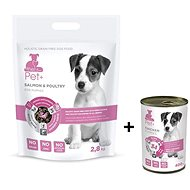 ThePet+ 3 in 1 Dog Puppies Salmon & Poultry 2,8 kg + Tin Chicken puppy 400 g zdarma