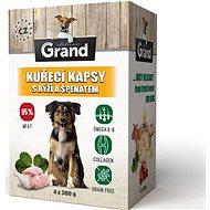 Grand deluxe kuracie s ryžou a špenátom 4× 300 g - Kapsička pre psov
