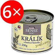 Falco Sense Dog králik a kura 200 g 6 ks