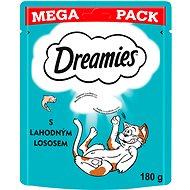 Maškrty pre mačky Dreamies maškrty s lososom pre mačky 180 g