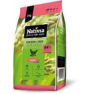 Nativia Puppy – Chicken & Rice 3 kg - Granuly pre šteniatka