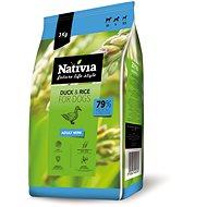 Nativia Adult mini – Duck & Rice 3 kg - Granuly pre psov