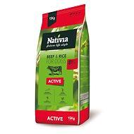 Nativia Active – Beef & Rice 15 kg - Granuly pre psov