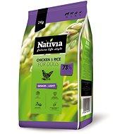 Nativia Senior & Light – Chicken & Rice 3 kg - Granuly pre psov