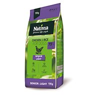 Nativia Senior & Light – Chicken & Rice 15 kg - Granuly pre psov