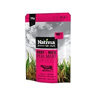 Nativia Real Meat – Beef & Rice 1 kg - Granuly pre psov