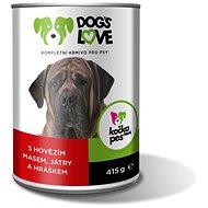 Dog's Love hovädzie s pečienkou a zeleninou 415 g - Konzerva pre psov