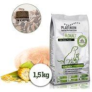 Platinum natural adult chicken kuracie, 1,5 kg - Granule pre psov