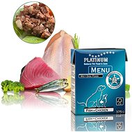 Platinum natural menu fish chicken ryby kura 375 g - Paštéta pre psov