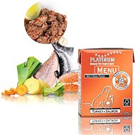 Platinum natural menu turkey salmon moriak losos 375 g - Paštéta pre psov