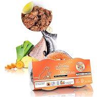 Platinum natural menu mini turkey salmon moriak losos 4 × 100 g - Paštéta pre psov