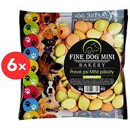 Fine Dog mini bakery piškoty pre malé plemená psov 6 × 80 g farebné - Piškóty pre psa