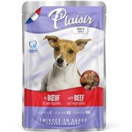 Kapsička pre psov Plaisir Dog kapsička hovädzie so zeleninou 22× 100 g