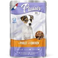 Kapsička pre psov Plaisir Dog kapsička puppy pre šteniatka s kuracím 22 × 100 g