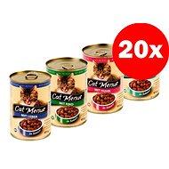 Konzerva Cat Menue mix balení – 4 príchute – kuracie, hovädzie, pečeň, ryba – 20× 415 g - Konzerva pre mačky