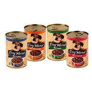 Konzerva Dog Menue mix balení – 4 príchute – hovädzie, hydinové, pečeň, kuracie – 20 × 415 g - Konzerva pre psov