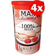MAX deluxe 3/4 kuraťa so svalovinou 1200 g, 4 ks - Konzerva pre psov