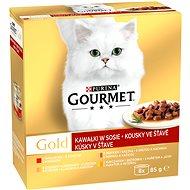 Gourmet gold (8× 85 g) – kúsky v šťave - Konzerva pre mačky