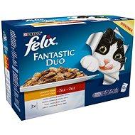 Felix fantastic duo 6 (12× 100 g) – lahodný výber - Kapsička pre mačky