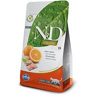 N&D grain free cat adult fish & orange 5 kg - Granule pre mačky