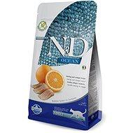 N&D OCEAN CAT grain free Adult Herring & Orange 1,5 kg - Granule pre mačky