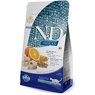 N&D OCEAN CAT low grain Adult Codfish & Orange 1,5 kg - Granule pre mačky