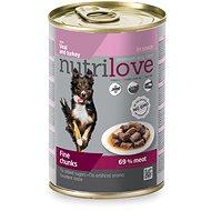 Nutrilove teľacie + morčacie v omáčke  415g - Konzerva pre psov