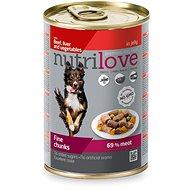 Nutrilove hovädzie, pečeň, zelenina v želé 415 g - Konzerva pre psov