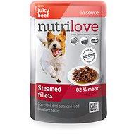 Nutrilove dusené filetky hovädzie v omáčke 85 g - Kapsička pre psov