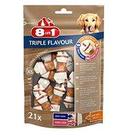Kosť pre psa Pochúťka 8 in 1 Triple Flavour XS (21 ks)