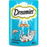 DREAMIES pochúťky s lososom 60 g - Maškrty pre mačky