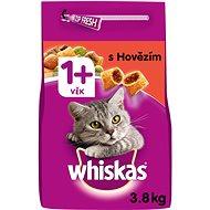 WHISKAS granule s hovädzím mäsom 3,8 kg - Granuly pre mačky