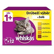 WHISKAS - Kapsička, hydinový výber v želé pre dospelé mačky, 12× 100 g - Kapsička pre mačky