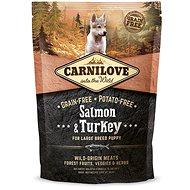 Carnilove salmon & turkey for large breed puppy 1,5kg - Granuly pre šteniatka