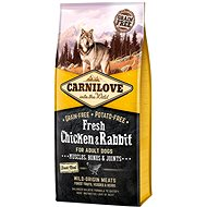 Carnilove fresh chicken & rabbit muscles, bones & joints for adult dogs 12kg - Granuly pre psov
