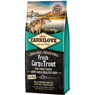 Carnilove fresh carp & trout shiny hair & healthy skin for adult dogs 12kg - Granuly pre psov