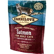 Carnilove salmon for adult cats – sensitive & long hair 400 g - Granuly pre mačky