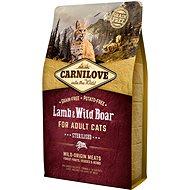 Carnilove lamb & wild boar for adult cats – sterilised 2kg - Granuly pre mačky