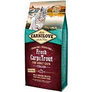 Carnilove fresh carp & trout sterilised for adult cats 6kg - Granuly pre mačky