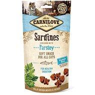 Maškrty pre mačky Carnilove cat semi moist snack sardine enriched with parsley 50 g