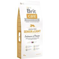 Brit Care grain-free senior & light salmon & potato 12kg - Granuly pre psov