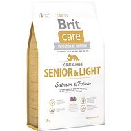 Brit Care grain-free senior & light salmon & potato 3kg - Granuly pre psov