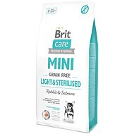 Granuly pre psov Brit Care mini grain free light & sterilised 7 kg